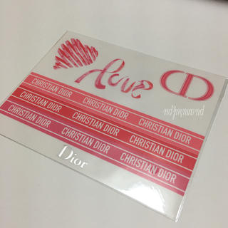 Dior - 非売品! バレンタイン限定 ステッカー ショップ袋 シール