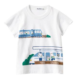 familiar - 新品タグ付き☆ファミリア お話Tシャツ 新幹線 電車 ホワイト 100