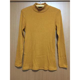 ユニクロ(UNIQLO)の【UNIQLO】リブハイネックシャツ Lサイズ(カットソー(長袖/七分))