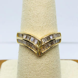K18YG テーパーダイヤモンド リング D:0.90ct(リング(指輪))