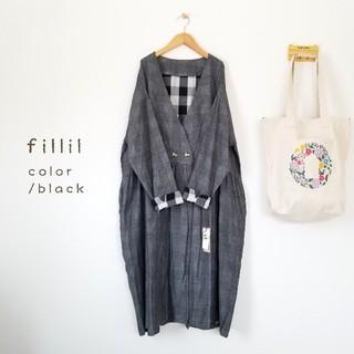 merlot - 最新作*fillil コートワンピース ブラック