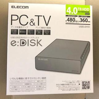 エレコム(ELECOM)の新品 エレコム 4TB 外付HDD (中身WD)(PC周辺機器)