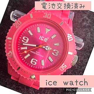 アイスウォッチ(ice watch)のicewatch  アイスウォッチ腕時計ピンク×ピンク(腕時計)