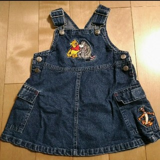 ディズニー(Disney)のプーさん デニムジャンパースカート 80サイズ(スカート)
