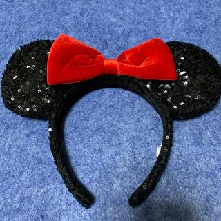 Disney - ミニーのスパンコールのカチューシャ