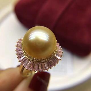 【金運UP】天然南洋真珠 ムーンストーンリング12-13mm(リング(指輪))