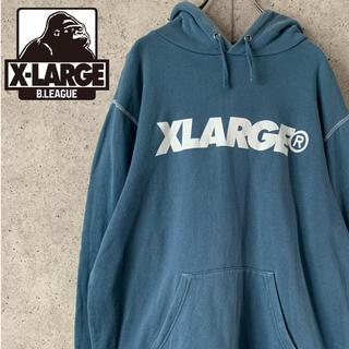 XLARGE - 【激レア】エクストララージ♪フロントビッグロゴプリント入りスウェットパーカー
