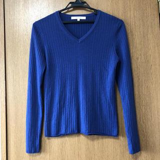 UNTITLED - アンタイトル Vネックニット セーター ブルー