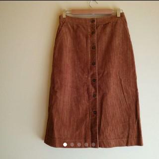 ユニクロ(UNIQLO)のUNIQLO ミモ丈 コーデュロイ フロントボタン スカート(ロングスカート)