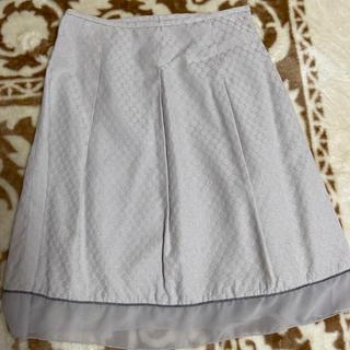 フレアスカート  67センチ  グレー(ひざ丈スカート)