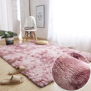 フランネルラグ 120×160cm(約2畳) 折り畳み 長方形 ピンク