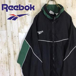 Reebok - 90s Reebok リーボック ナイロンジャケット ワンポイント刺繍ロゴ