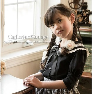 キャサリンコテージ(Catherine Cottage)のキャサリンコテージ レースセーラー カットソー 130(Tシャツ/カットソー)