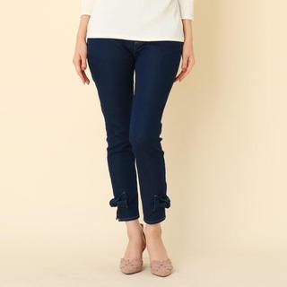 Couture Brooch - クチュールブローチ 裾リボン ストレッチデニムパンツ ブルー 40 Lサイズ
