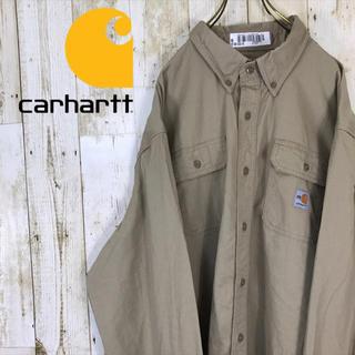 カーハート(carhartt)のFR carhartt カーハート ワークシャツ ビックシャツ 美品 ベージュ(シャツ)