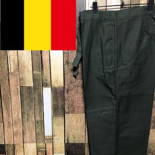 【デッドストック】ベルギー軍☆ドローコードオーバーパンツ 90s