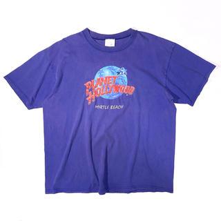 《企業ロゴ》 90s プラネットハリウッド Tシャツ ロゴ スーベニア USA製(Tシャツ/カットソー(半袖/袖なし))
