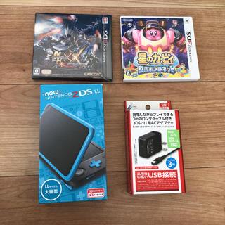 ニンテンドー3DS - Newニンテンドー2DS LL ブラック×ターコイズ ソフト2個