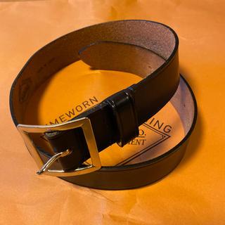 TENDERLOIN - 人気品! ATLAST アットラスト ベルト レザー シルバー ブラック 32