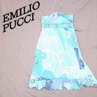 EMILIO PUCCI エミリオプッチ ノースリーブ ミニワンピース