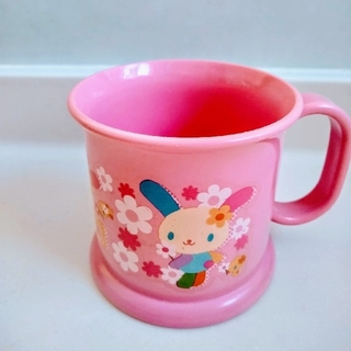 サンリオ(サンリオ)のウサハナ♡プラスチック 持ちて付き ピンク コップ(マグカップ)