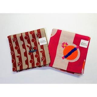 Vivienne Westwood - 送料無料■ヴィヴィアンウエストウッド■ORB×ドット柄 ハンカチ■2枚セット