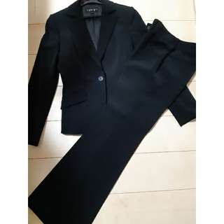 INDIVI - ブラック パンツスーツ