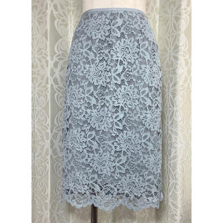 UNITED ARROWS - UNITED ARROWS(ユナイテッドアローズ) 水色花柄スカート