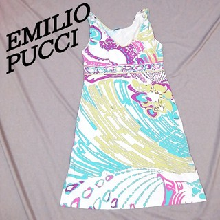 エミリオプッチ EMILIO PUCCI ノースリーブワンピース