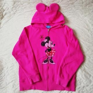 ディズニー(Disney)のディズニーリゾート 裏起毛ミニーちゃんパーカーLサイズ(パーカー)