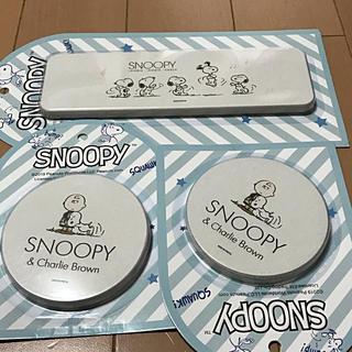 スヌーピー(SNOOPY)の♡スヌーピー  珪藻土コースター 3点セット コースター 生活雑貨(収納/キッチン雑貨)