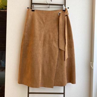 ロペ(ROPE)のROPE スエードラップスカート(ひざ丈スカート)