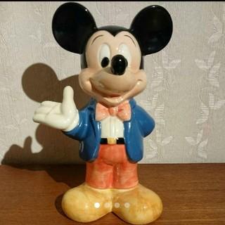 ミッキーマウス(ミッキーマウス)の【貯金箱】ミッキーマウス ★ レトロ 陶器(キャラクターグッズ)