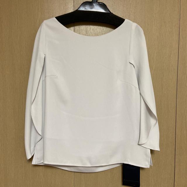 JUSGLITTY(ジャスグリッティー)の新品  ジャスグリッティー マントブラウス ライトグレー レディースのトップス(シャツ/ブラウス(半袖/袖なし))の商品写真