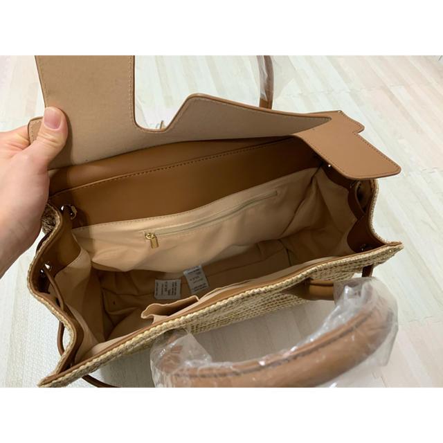ZARA(ザラ)のスクエアカゴバッグ レディースのバッグ(かごバッグ/ストローバッグ)の商品写真