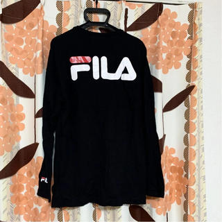 FILA - FILA Fila フィラ 長袖Tシャツ ロンT キッズ レディース  黒