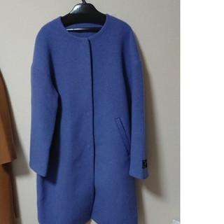 mysty woman - ノーカラーコート ブルー