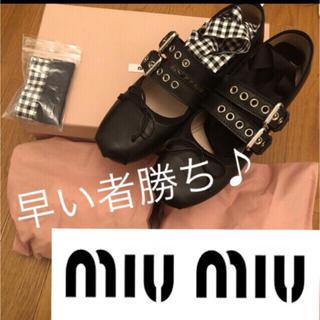 miumiu - 極美品 miumiu  ミュウミュウ バレリーナシューズ♡