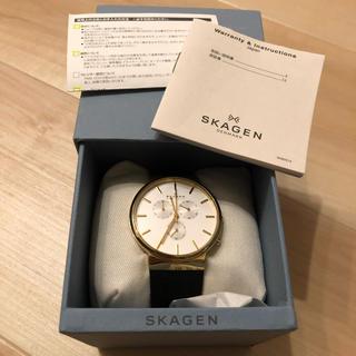 スカーゲン(SKAGEN)の腕時計 スカーゲン Skagen メンズ SKW6143 ブラックレザークォーツ(腕時計(アナログ))