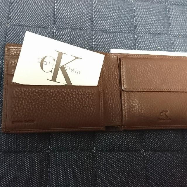 Calvin Klein(カルバンクライン)のカルバンクライン 二つ折り財布 メンズ 革 メンズのファッション小物(折り財布)の商品写真