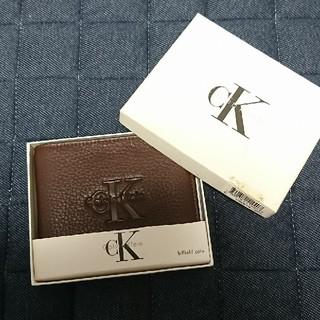 Calvin Klein - カルバンクライン 二つ折り財布 メンズ 革
