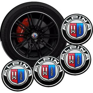 BMW - アルピナ ホイールセンターハブキャップ エンブレム ロゴ アルミステッカー