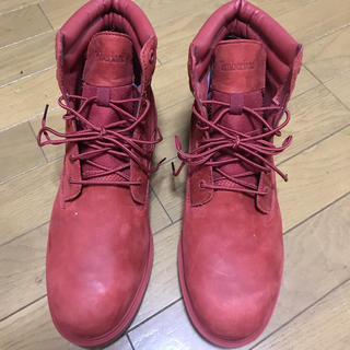 ティンバーランド(Timberland)の新品‼️ ティンバーランド ブーツ 赤 レッド 28.0(ブーツ)