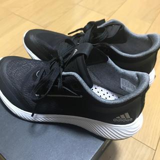 adidas - アディダス  22.5 黒 ランニングシューズ スニーカー