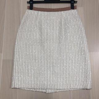 ジャスグリッティー(JUSGLITTY)のジャスグリッティー ツイードスカート(ひざ丈スカート)