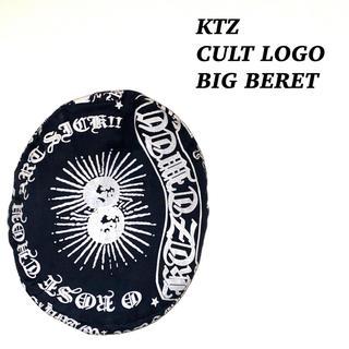 Kokon to zai (KTZ) - ktz ココントーザイ カルト ロゴ 総柄 ビッグ ベレー帽 古着 モード