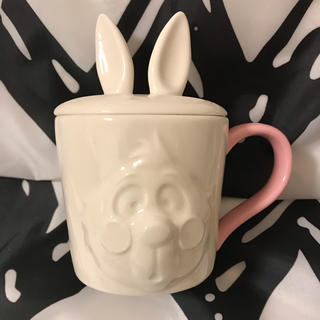 Disney - ディズニー  アリス 蓋付きマグカップ