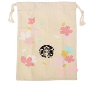 Starbucks Coffee - スターバックス  サクラ コットンバッグ 巾着 2020