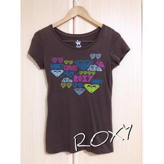 ロキシー(Roxy)のROXY★ブラウン★Tシャツ★POPなイラストデザイン★カラフル★限界価格(Tシャツ(半袖/袖なし))