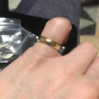 新品未使用品・K18平甲丸リング(リング(指輪))